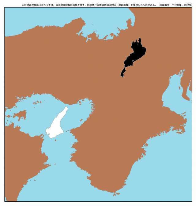 日本の中心にある太極図